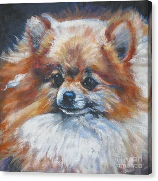 Pomeranian Canvas Print - Pomeranian by Lee Ann Shepard