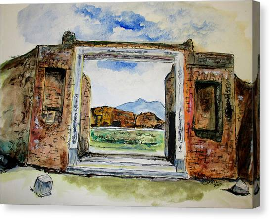 Pompeii Doorway Canvas Print