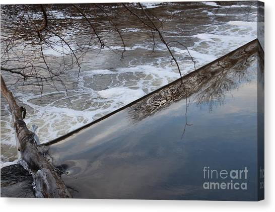 Pompton Spillway From Above Canvas Print