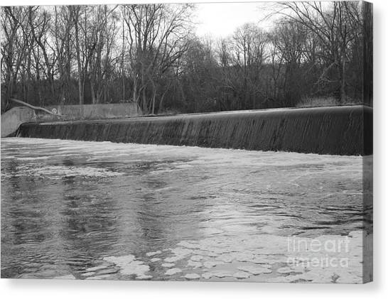 Pompton Spillway In January Canvas Print