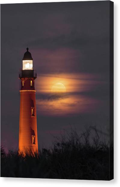 Ponce De Leon Full Moon Canvas Print