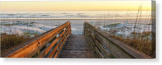 Ponce De Leon Inlet Beach Path Canvas Print