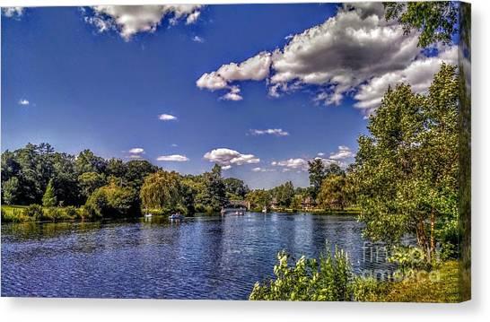 Pond At Verona Park Canvas Print