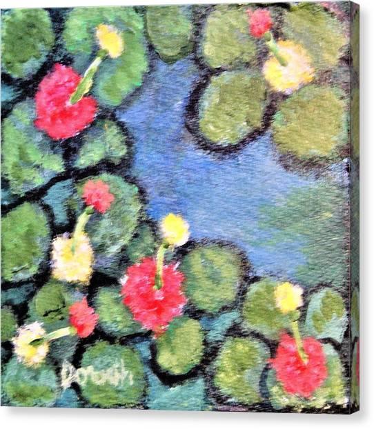 Pond Flowers Canvas Print