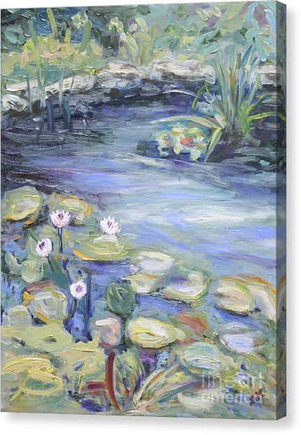 Pond In Berlin Canvas Print