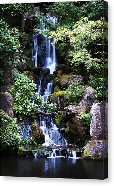 Pond Waterfall Canvas Print