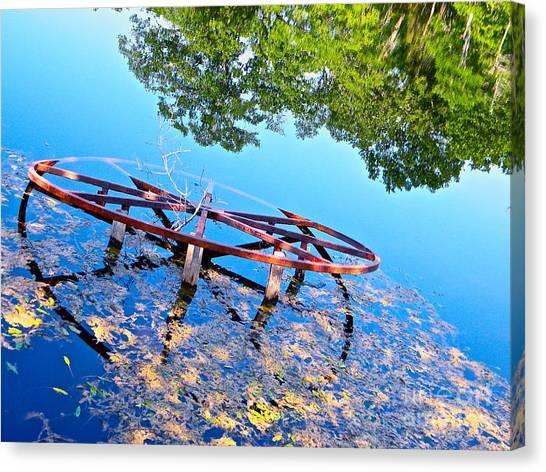Pond Wheel Canvas Print by Chuck Taylor