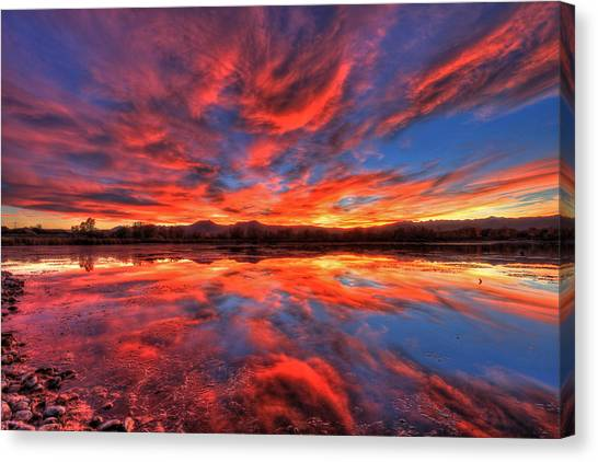 University Of Colorado Canvas Print - Ponds Of Fiery by Scott Mahon
