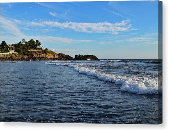Poneloya Beach Before Sunset Canvas Print
