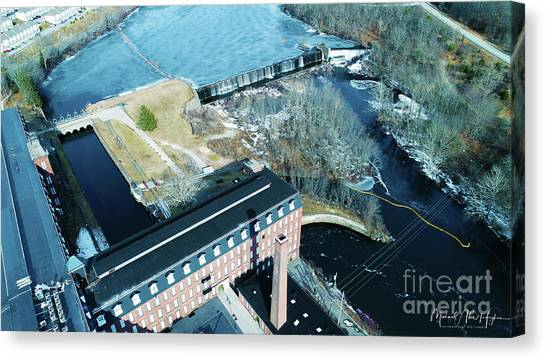 Ponemah Mill And Dam Canvas Print