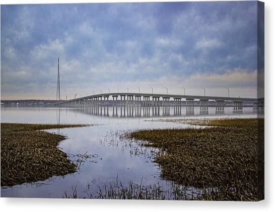 Ponquogue Bridge Hampton Bays Ny Canvas Print
