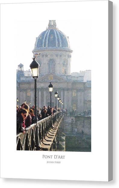 Pont D'art Canvas Print