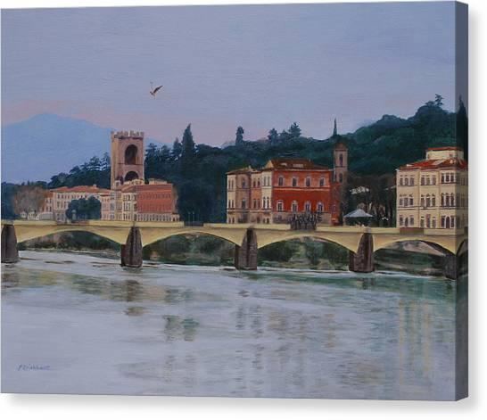Ponte Vecchio Landscape Canvas Print