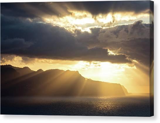 Ocean Cliffs Canvas Print - Ponta Do Rosto by Evgeni Dinev