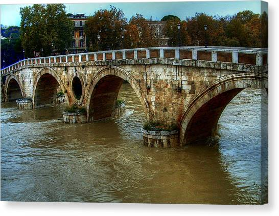 Ponte Sisto Bridge Rome Canvas Print