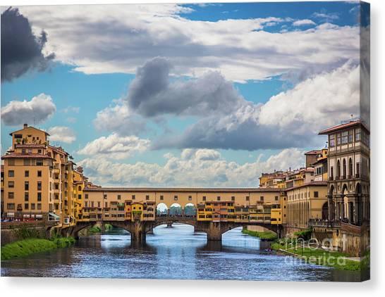 Ponte Vecchio Clouds Canvas Print