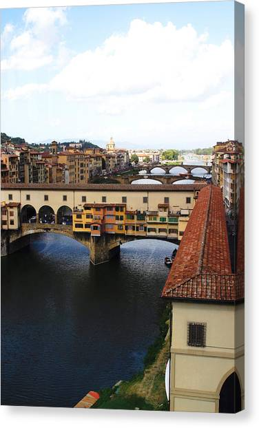 Ponte Vechio Florence Canvas Print by Mathew Lodge