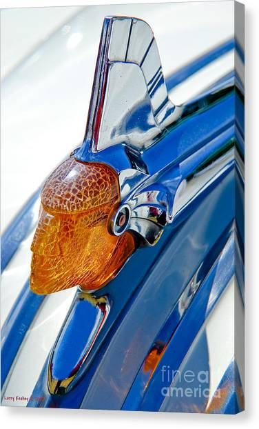 Pontiac Art Deco Hood Ornament Canvas Print