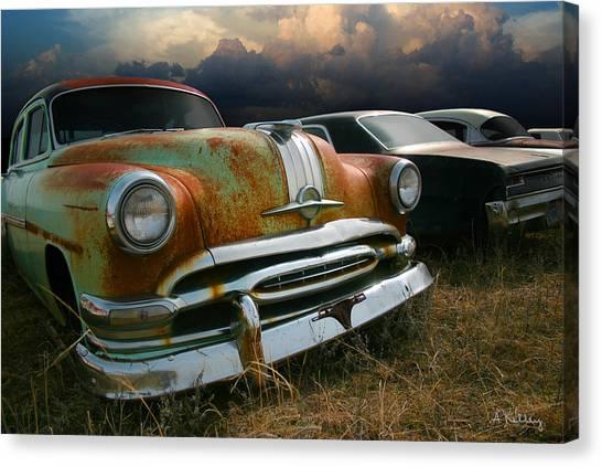 Pontiac Chieftain Canvas Print by Andrea Kelley
