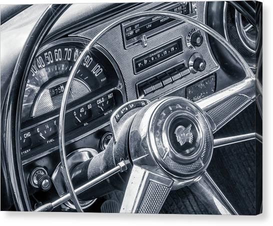 Pontiac Chieftain Dash And Steering Wheel Canvas Print