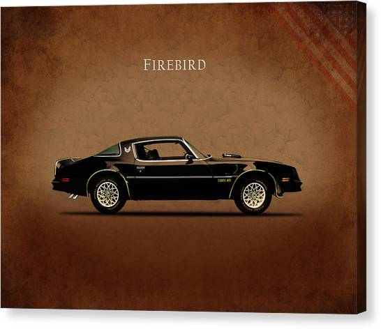 Shirt Canvas Print - Pontiac Firebird by Mark Rogan