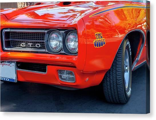 Pontiac G T O Judge 1969 Convertible Canvas Print