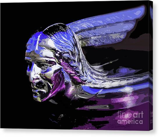 Pontiac Indian Head Hood Ornament Canvas Print