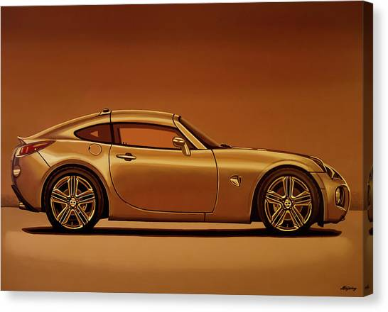 Realism Art Canvas Print - Pontiac Solstice Coupe 2009 Painting by Paul Meijering
