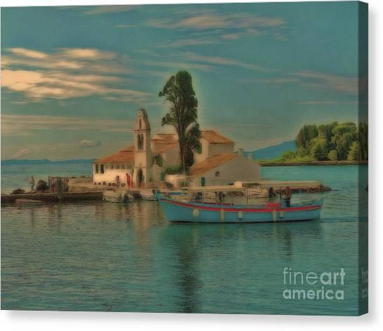 Pontikonisi Corfu Canvas Print