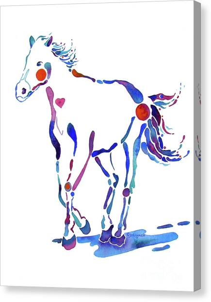 Pony Canter With Love Canvas Print