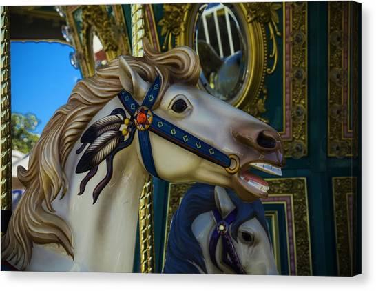 Dreamy Horse Canvas Print - Pony Carrsouel Portrait by Garry Gay