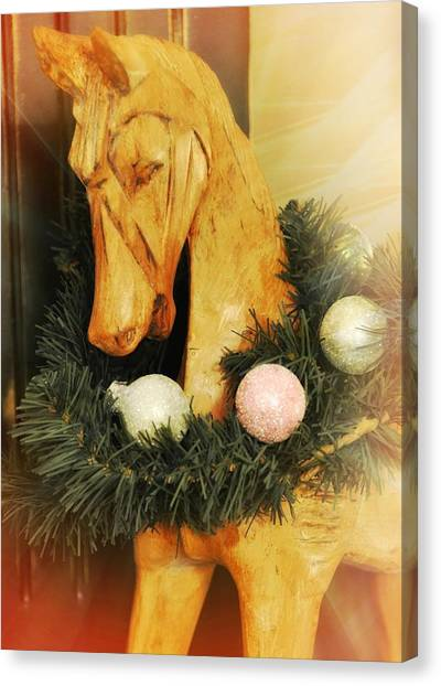 Pony For Christmas Canvas Print by JAMART Photography