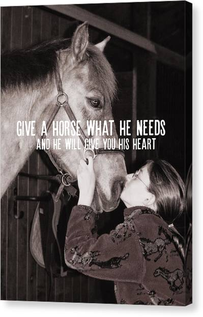 Pony Love Quote Canvas Print