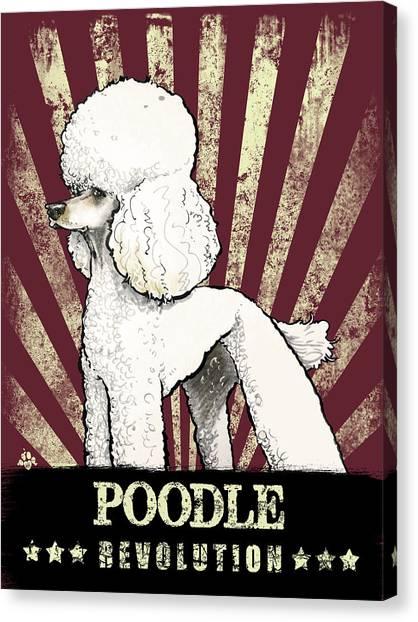 Poodle Revolution Canvas Print