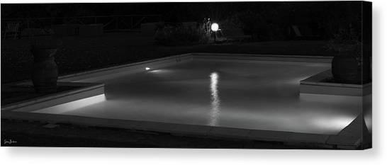 Pool At Night 2 Canvas Print