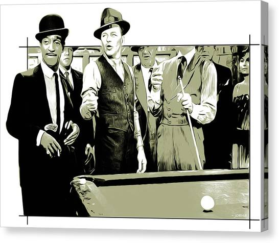 Hollywood Canvas Print - Pool Sharks by Greg Joens