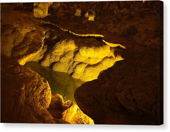 Carlsbad Caverns Canvas Print - Pool Within The Cave by Jeff Swan
