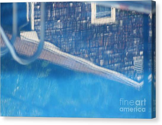 Poolhouse Canvas Print by Amy Holmes