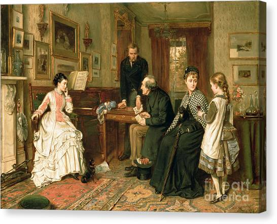 Charities Canvas Print - Poor Relations by George Goodwin Kilburne
