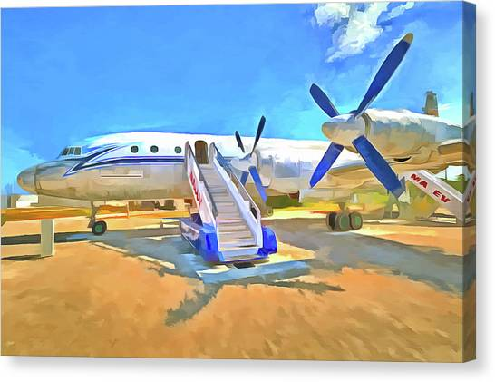 Ilyushin Canvas Print - Pop Art Airliner by David Pyatt