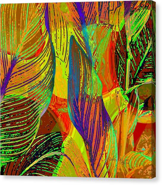 Canvas Print featuring the digital art Pop Art Cannas by Deleas Kilgore