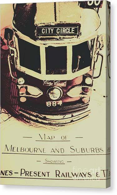 Vintage Railroad Canvas Print - Pop Art City Tours by Jorgo Photography - Wall Art Gallery
