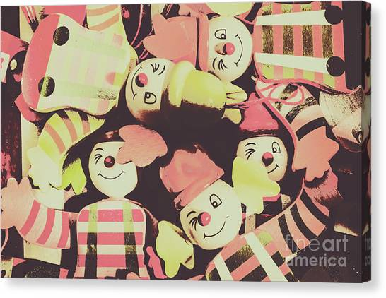 Dummies Canvas Print - Pop Art Clown Circus by Jorgo Photography - Wall Art Gallery