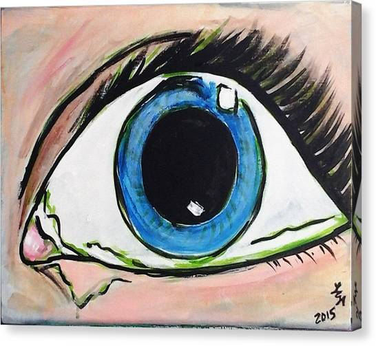 Pop Art Eye Canvas Print