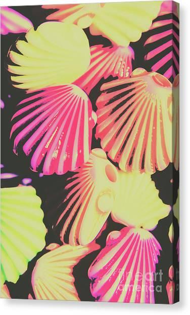 Neon Canvas Print - Pop Art From Fluorescent Beach by Jorgo Photography - Wall Art Gallery