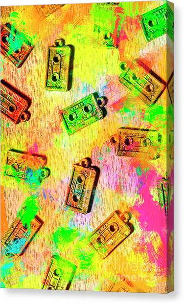 80s Canvas Print - Pop Art Mix Tapes by Jorgo Photography - Wall Art Gallery