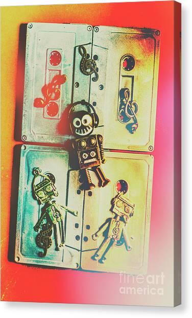 Punk Canvas Print - Pop Art Music Robot by Jorgo Photography - Wall Art Gallery