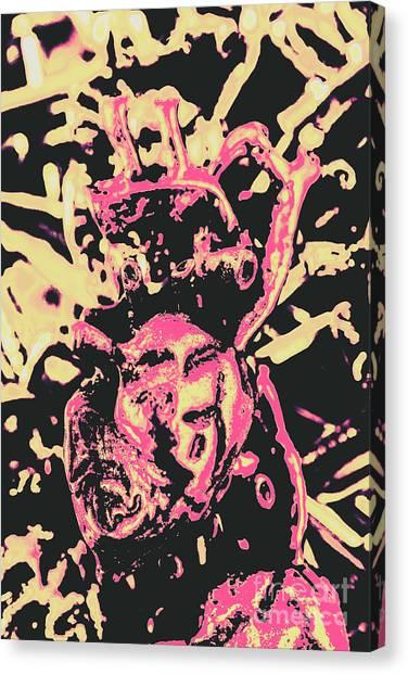Punk Canvas Print - Pop Art Poster Heart by Jorgo Photography - Wall Art Gallery