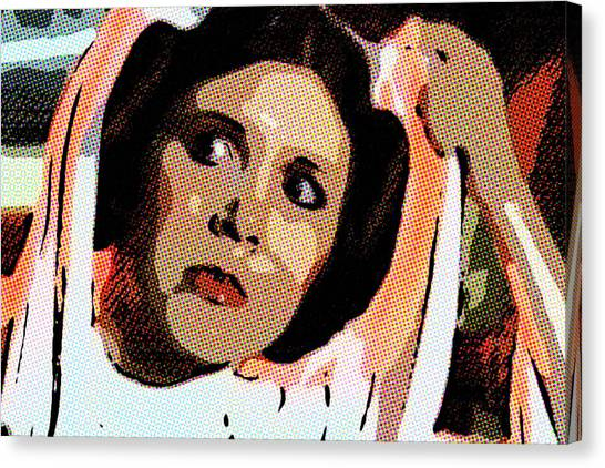 Pop Art Princess Leia Organa Canvas Print