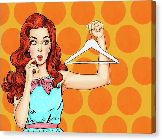 Redhead Canvas Print - Pop Art Redhead Fashion Girl by Long Shot